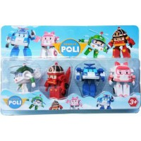 Mainan anak Robocar Poli Figure Set Isi 4 Pcs