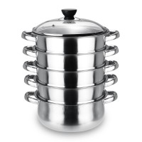 Terlaris 5 Ukuran Steamer 5 Tingkat Steam Pot Peralatan Masak