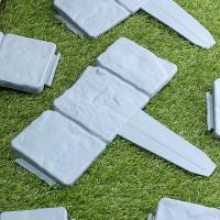 Terlaris 20 Pcs Taman Pagar Merayap Batu Tepi Efek Rumput Plastik