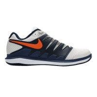 Nike Air Zoom Vapor X White/Navy Sepatu Tenis/Tennis Shoes Original