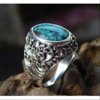 Gagang cincin perak motif kembang tanpa batu aneka koleksi