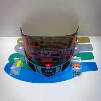 Paket kaca helm flat visor tear off post spoiler pnp kyt rc7 - kyt RC7