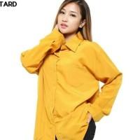 880 atasan blouse kemeja kuning hnm ori