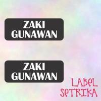 Label Nama Setrika Label Baju Label Zaki
