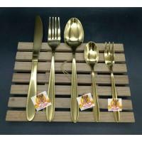 Sendok Teh Gold & Garpu Kue Gold HOTEL Stainless Steel 18-10 emas