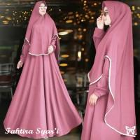 Gamis / Dress / Setelan Wanita Muslim Fahtira Syari + Hijab HQ