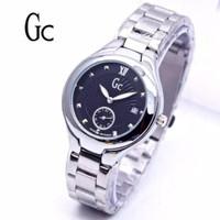 jam tangan Gc Guess Collection wanita silver dial hitam rantai