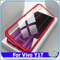 Casing Vivo Y17 Y 17 Magnetic Case Aluminum Bumper Glass CAnti Karat