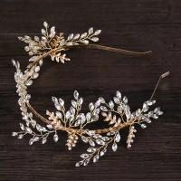 Bride Wedding Hair rhinestone AR038 / bando crystal / bando headpiece