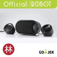 Robot RS170 Stereo Speaker with LED Black