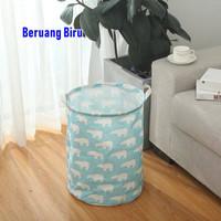 Keranjang Baju Cucian Pakaian Kotor Laundry Basket KB004 Uk.M 35m X 45