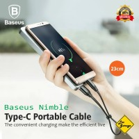 Kabel Data Charger PowerBank Pendek Baseus Type C Fast Charging QC 3.0
