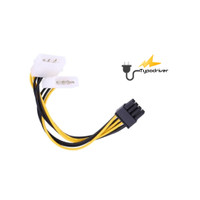 Kabel Adapter Power VGA Card PCI-E PCIE 8 Pin To Molex 4 Pin
