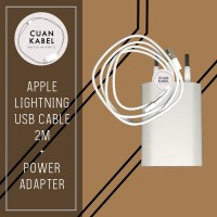 Charger Iphone 2M Original- Lightning To USB Cable & USB Power Adaptor
