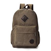 Tas Ransel Pria Backpack Kanvas Sekolah - TP05