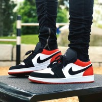 Nike Air Jordan 1 Low Retro OG Black Toe Premium Original / Sneakers