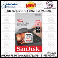 SD 128GB SanDisk Ultra SDHC Card UHS-I Class 10 (80MB/s) Original