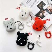 Cartoon Doll Bear Airpods Protection Cover Apple Bluetooth Headset Sof
