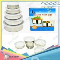 Fresh Box susun 5 Stainless Steel/Rantang Stainless Steel