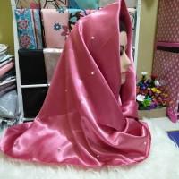 clearance sales hijab segiempat satin pearl