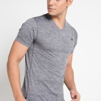 ORIGINAL New Balance Tenacity V Neck Grey Kaos Olahraga Gym Pria
