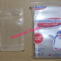 Plastik PP Klip Standing Pouch Dobel Seal Ukuran 9 Cm X 15 Cm