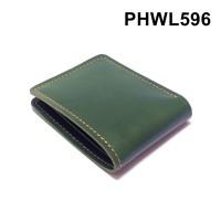 dompet pria kulit sapi asli warna hijau - bifold wallet basic PHWL596