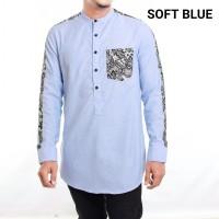 Gamis Pria Modern Mix Batik Pocket