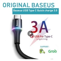 KABEL DATA BASEUS USB TYPE C FAST CHARGER CABLE PREMIUM ORIGINAL TIPE
