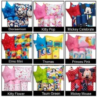 CARTOON Baby Bed Set BOY GIRL Kitty Doraemon Keroppi Thomas Mickey elm