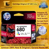 Cartridge Tinta HP 680 Color ORIGINAL LOOSEPACK Catridge HP 1115 2135
