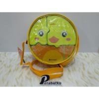 Tempat Makan Set Anak Technoplast / Lunch Box Tas Puzzle Ayam Kuning