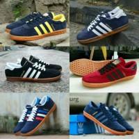 Adidas Hamburg size 39 - 43 sepatu sneakers pria orange navy hitam ora