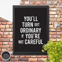 Lukisan Poster Hiasan Dinding Quote Motivasi hitam typography