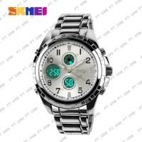 Jam Tangan Pria Digital Analog SKMEI 1021 Silver Water Resistant 30M