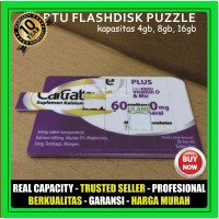 USB Flashdisk Kartu Puzzle FDCD12 Souvenir Promosi Custom Print logo