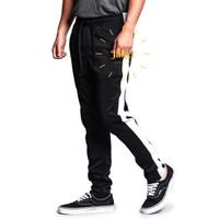 Celana Joger Pria Panjang Jogger Pants Training Trackpants Hitam - Hitam, M-L