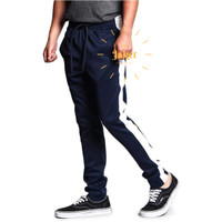 Celana Joger Pria Panjang Jogger Pants Training Trackpants Navy - Navy, M-L