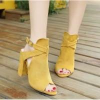 Terlaris Sepatu Hak Wanita Dalleya Chunky Cuci Gudang Paling Laris 860