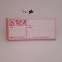 label pengiriman olshop doraemon pink