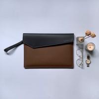 Tas/Case/Softcase/Leather Laptop Sleeve - Black/Brown(Fit Macbook 13)