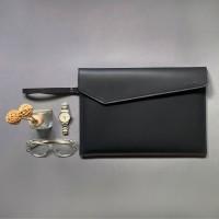 Tas/Case/Softcase/Leather Laptop Sleeve - Full Black (Fit Macbook 13)