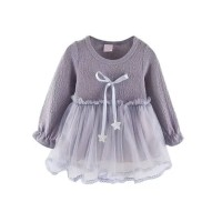 dress rok bayi perempuan abu abu tutu bintang cantik
