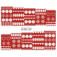 Christmas Water Decal Nail Sticker Stiker Kuku B252