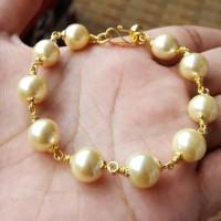 Gelang Mutiara Shell Gold Ikat Lapis Emas 24k