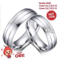 cincin couple titanium free ukir dan free box 2