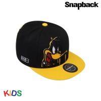 Snapback Topi Hiphop Kids Duffy Duck Black SBK10003 YLW