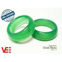 VeE Ring Cincin Terapi Kesehatan Batu Giok Hijau Asli