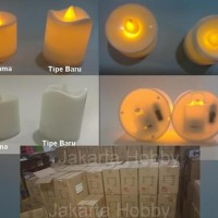 Lilin Electric 7 warna/ Colorful LED Candle (lampu) jakarta hobby -