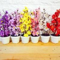bunga sakura bunga plastik artificial palsu dekorasi rumah - Putih